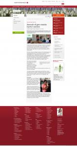 Seemab bliver interviewet af Hjerteforeningen.
